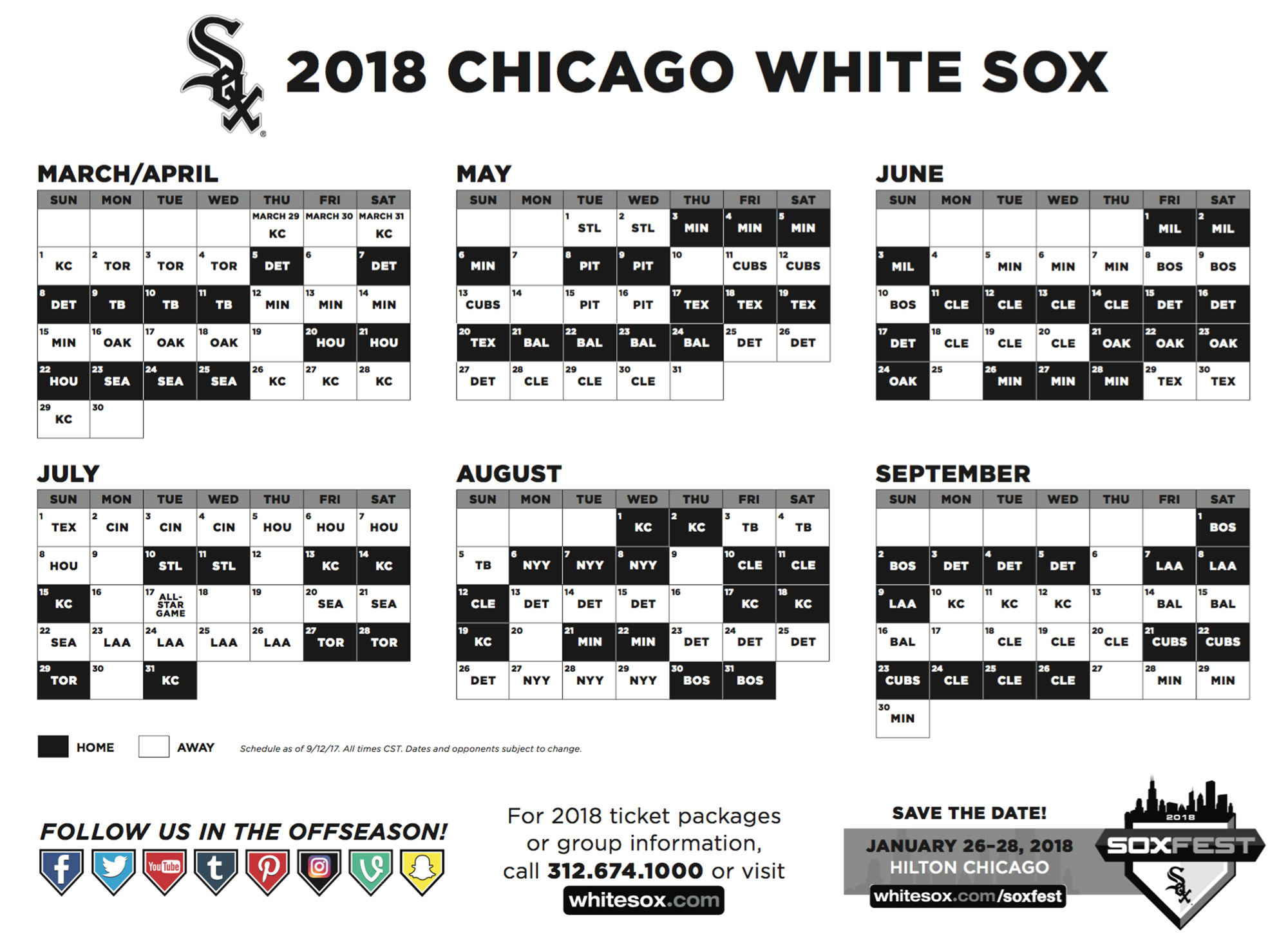 See The 2018 Schedules For The Cubs And White Sox Nbc Chicago