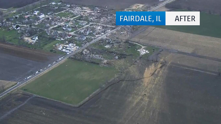 Fairdale Illinois Before After The Tornado Nbc Chicago